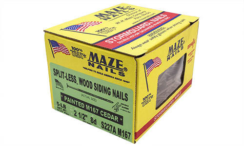 Maze Nail 8d Cedartone Ring Shank Splitless Siding Nail