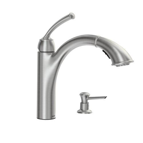 moen sullivan single handle pullout kitchen faucet at menards 174