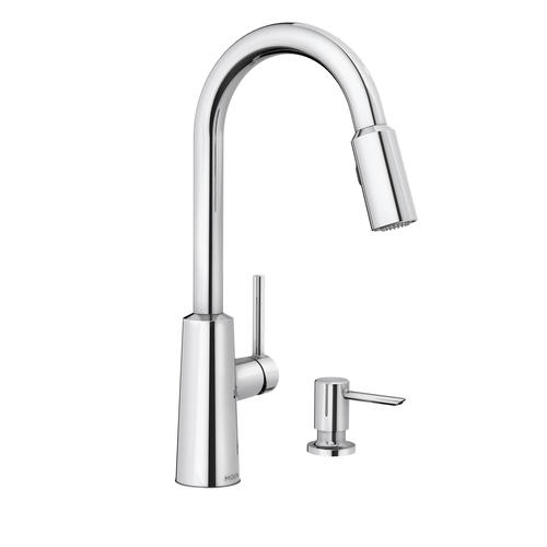 moen nori single handle pulldown kitchen faucet at menards 174