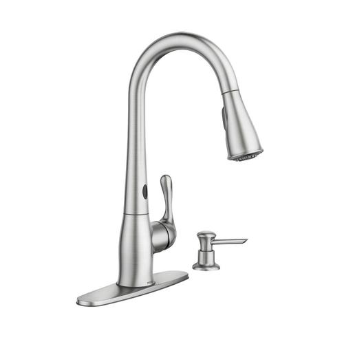 moen ridgedale single handle kitchen pulldown faucet featuring motionsense at menards 174