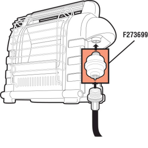 diagram of parts a propane regulator