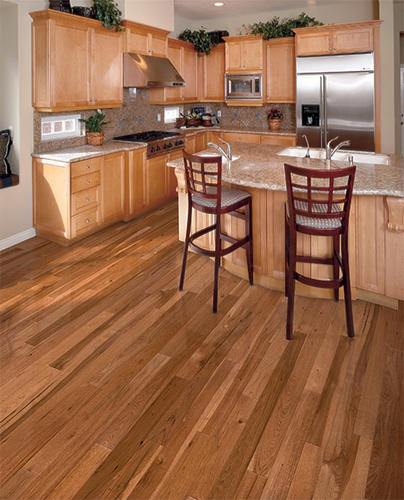 Hickory solid hardwood flooring 3 4 x 4 16 for Hardwood floors menards