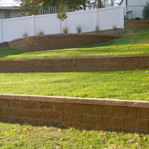 Retaining Wall Blocks From Menards : Quot clifton wall straight retaining block at