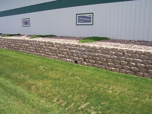 Retaining Wall Blocks From Menards : Quot mansfield ii retaining block at menards?