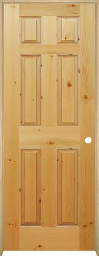 mastercraft knotty pine raised 6 panel prehung interior door at menards. Black Bedroom Furniture Sets. Home Design Ideas