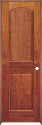 Mastercraft cherry arched raised 2 pnl prehung int door at menards for Mastercraft prehung interior doors