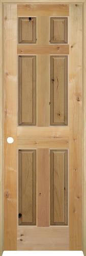 mastercraft knotty alder raised 6 panel prehung interior door at menards. Black Bedroom Furniture Sets. Home Design Ideas