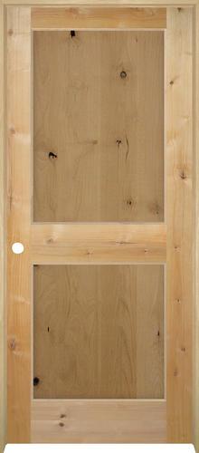 Mastercraft Flat Knotty Alder 2 Panel Prehung Interior Door At Menards