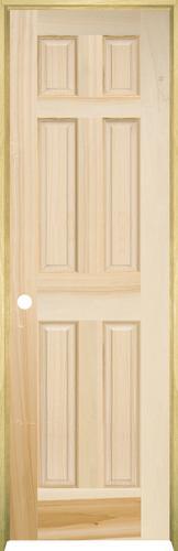 Mastercraft Poplar Raised 6 Panel Prehung Interior Door At