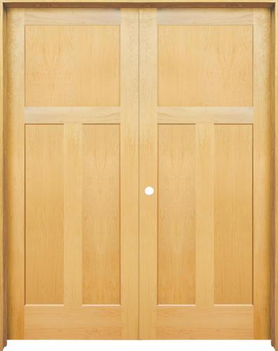 mastercraft maple flat mission 3 pnl int prehung double int door at menards. Black Bedroom Furniture Sets. Home Design Ideas