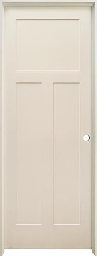 mastercraft primed flat 3 panel hollow core prehung interior door at menards. Black Bedroom Furniture Sets. Home Design Ideas