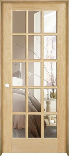 mastercraft pine 15 lite prehung interior door at menards. Black Bedroom Furniture Sets. Home Design Ideas