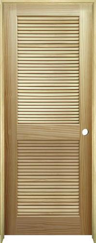 mastercraft pine full louvered prehung interior door at menards. Black Bedroom Furniture Sets. Home Design Ideas