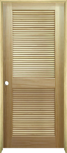 Mastercraft Pine Full Louvered Prehung Interior Door At