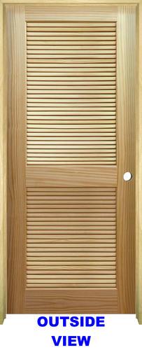 Mastercraft Pine Full Louvered Prehung Interior Door At