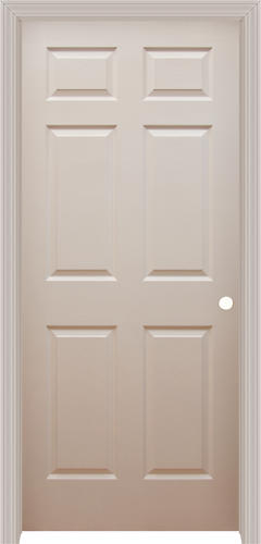 Mastercraft primed split jamb wood grain 6 panel prehung interior door at menards for Mastercraft prehung interior doors