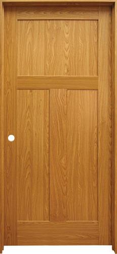 mastercraft prefinished craftsman flat 3 panel prehung interior door at menards. Black Bedroom Furniture Sets. Home Design Ideas