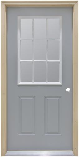 commander c 4 primed steel 9 lite prehung ext door at menards