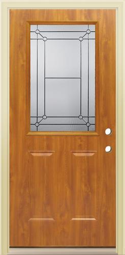 Mastercraft Fl 106 Light Oak Steel Half Lite Prehung Ext Door At Menards