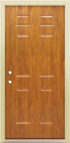 Mastercraft E 1 Light Oak Steel 6 Panel Prehung Ext Door