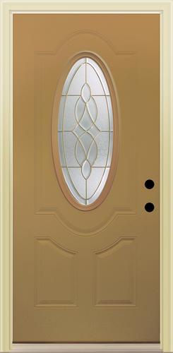 Mastercraft Ce 930 Unfinished Fiberglass 3 4 Oval Prehung Ext Door At Menards