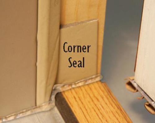 Mastercraft corner seal weatherstrip for ext doors at menards for Exterior door corner seal pads