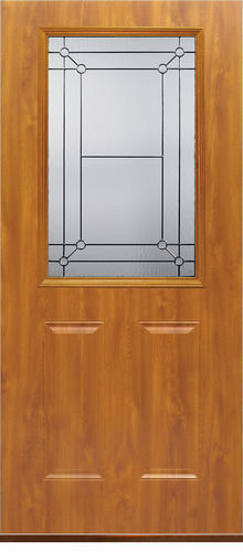 Mastercraft Fl 106 Light Oak Steel Half Lite Ext Door