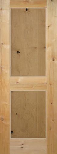 Mastercraft Knotty Alder Flat 2 Panel Interior Door Only At Menards