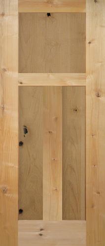 mastercraft knotty alder flat mission 3 panel interior door only at menards. Black Bedroom Furniture Sets. Home Design Ideas