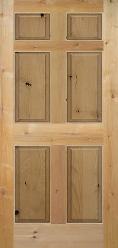 Mastercraft Knotty Alder Raised 6 Panel Interior Door Only