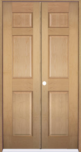 Mastercraft Maple 6 Panel Prehung Interior Double Door At Menards