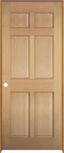 Mastercraft Maple 6 Panel Prehung Interior Door At Menards