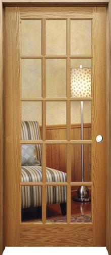 Mastercraft Oak Woodlite 15 Lite Prehung Interior Door At Menards