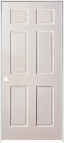 mastercraft duracore 6 panel prehung interior door at menards. Black Bedroom Furniture Sets. Home Design Ideas