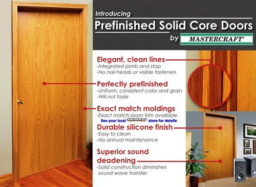Mastercraft prefinished wheat oak solid core flush prehung for 18x80 door