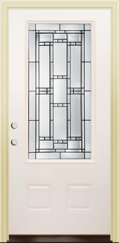 Mastercraft VE 104 Primed Steel 3 4 Lite Prehung Ext Door