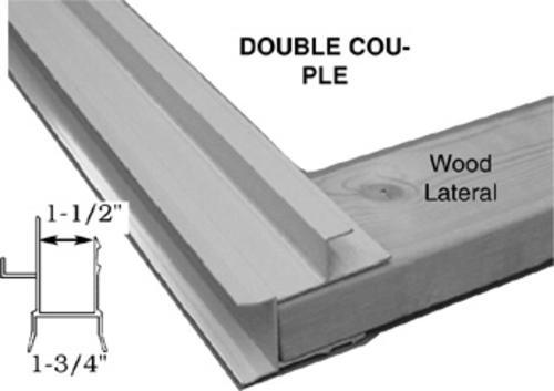 Double Pole Structure : Wood frame sliding door double couple at menards