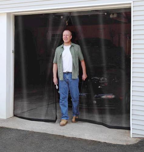 New york wire 114 x 90 roll up fiberglass 1 car garage for Screen door with roll up screen