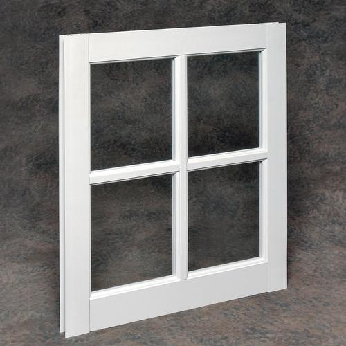 Vinyl Barn Sash With Single Pane Divided Lite Glass At