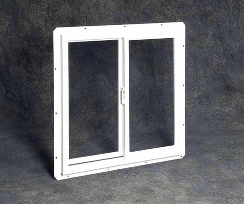 Vinyl double utility slider with single pane glass at menards for Vinyl sliding windows