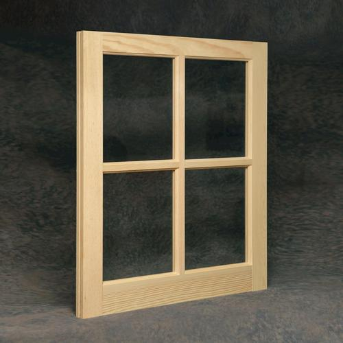 Wood barn sash with single pane divided lite glass at menards for Small doors for sale