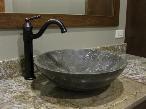 Novatto Coffee Marble Natural Stone Vessel Sink At Menards
