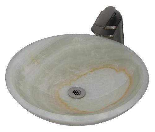 Novatto White Onyx Natural Stone Vessel Sink At Menards