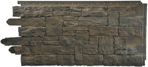 Novistone vinyl stacked stone panel 5 sq ft at menards for Vinyl siding that looks like stone