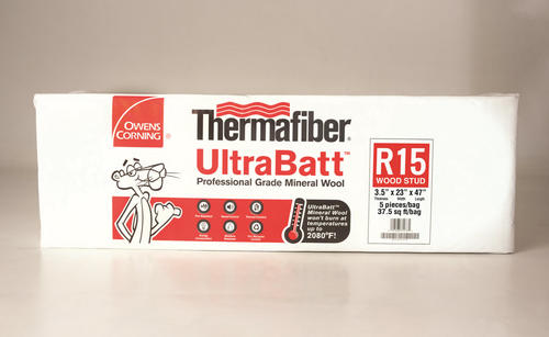 Thermafiber ultrabatt 3 5 x 23 x 47 r 15 mineral wool for Thermafiber insulation prices