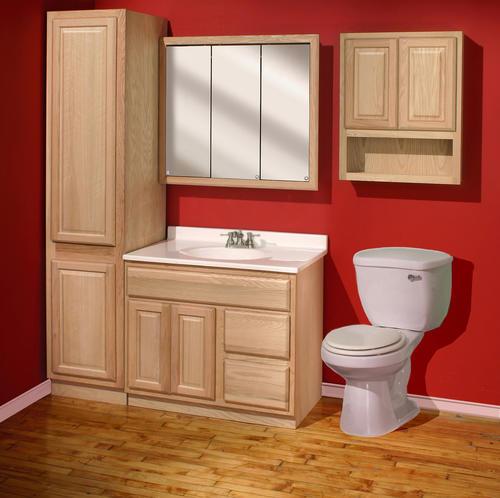 pace 18 x 82 x 21 unfinished oak linen cabinet at menards