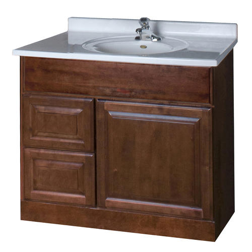 pace valencia series 36 x 18 vanity with drawers on left