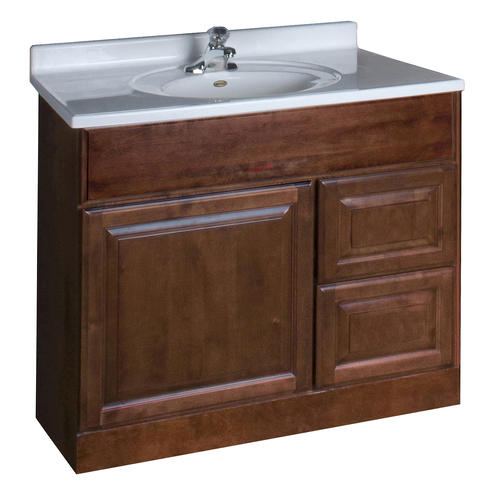 Pace valencia series 36 x 18 vanity with drawers on right at menards - Menards bathroom wall cabinets ...