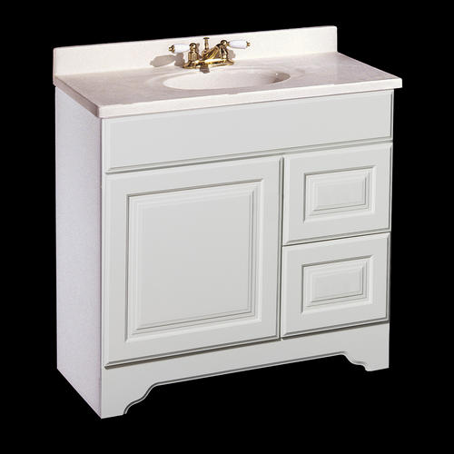 charleston series 36 x 21 vanity with drawers on right at men
