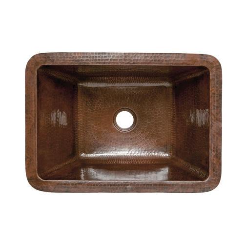 Rectangle hammered copper bathroom sink at menards for Hammered copper undermount bathroom sink